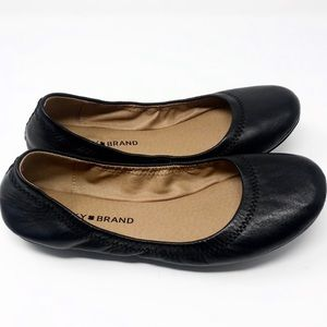 [Lucky Brand] Black Leather Erin Ballet Flats